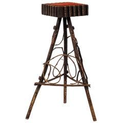 Folk Art Bent Wood Stand
