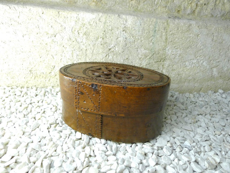 French Folk Art Box to Work, 19th Century For Sale