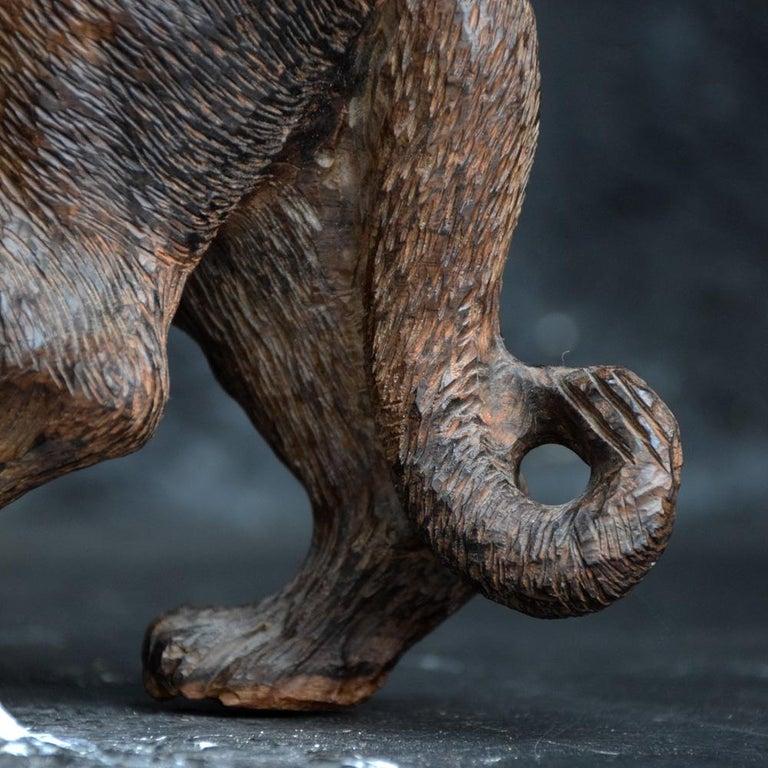 Wood Folk Art Carved Androcles Lion Figure For Sale