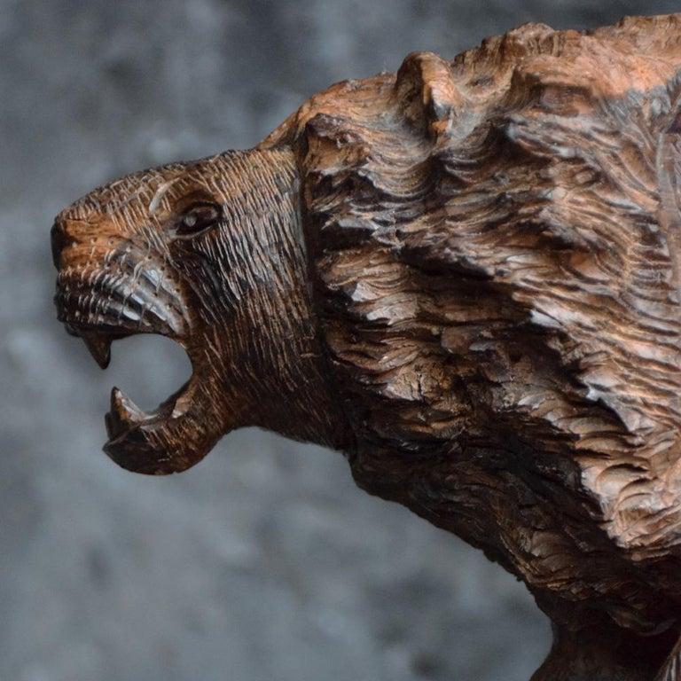 Folk Art Carved Androcles Lion Figure For Sale 2