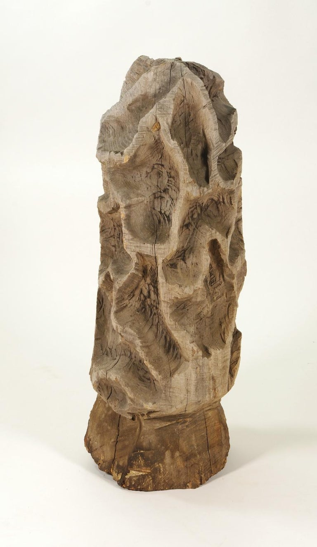 American Folk Art Carved Morel Mushroom Sculpture, Mid-20th Century For Sale