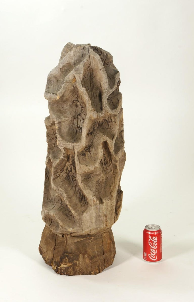 Folk Art Carved Morel Mushroom Sculpture, Mid-20th Century For Sale 2