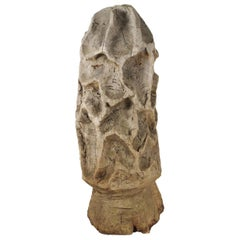 Folk Art Carved Morel Mushroom Sculpture, Mid-20th Century