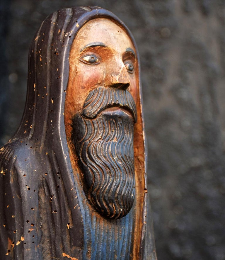 Early 19th Century Hand carved Italian Folk-art Figure of Christ  For sale in this LOT is a wonderful early 19th Century religious Italian church artifact sourced from Italy. This item is very folk art and primitive in form and style. Carved from a