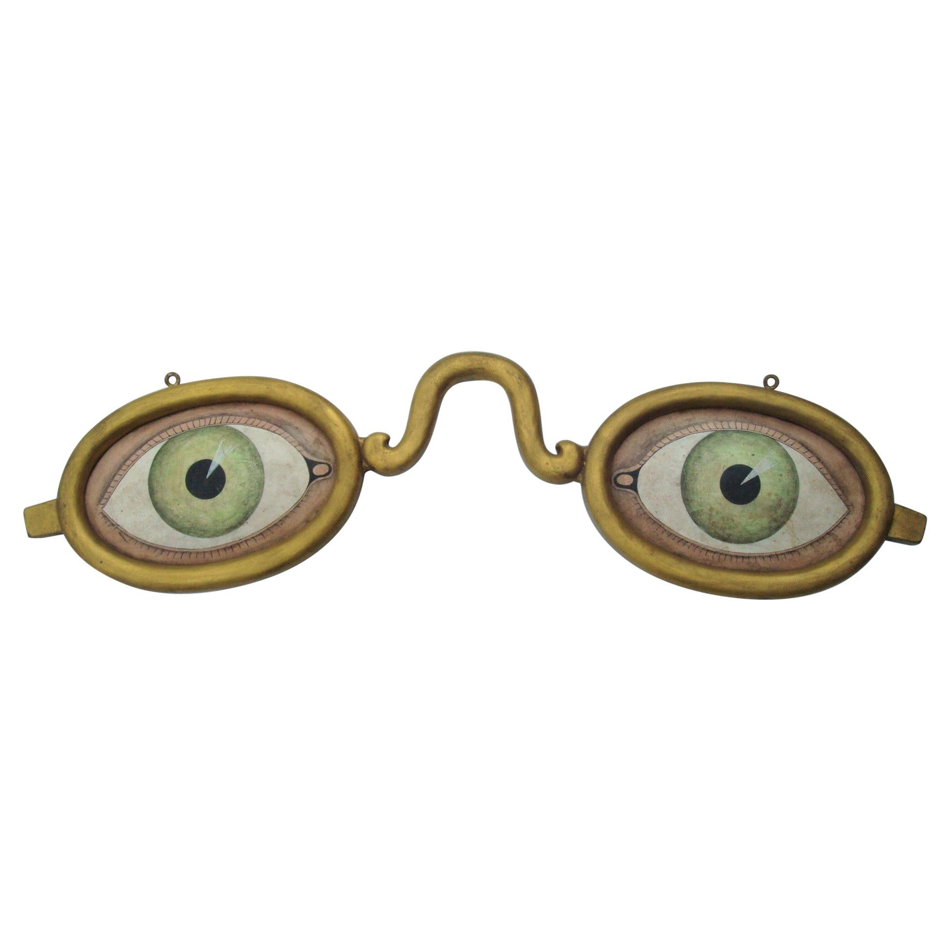 Folk Art Decorative Spectacles, Eyeglasses Optometrist Trade Sign