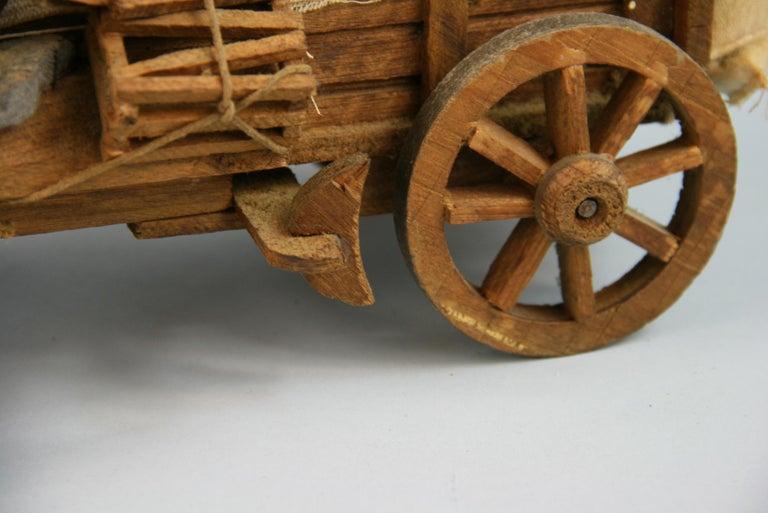 Folk Art Detailed Model of a Conestoga Wagon For Sale 5