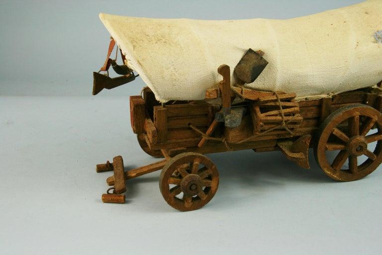 Folk Art Detailed Model of a Conestoga Wagon For Sale 6