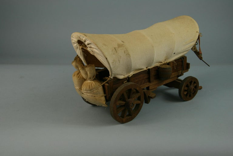 Mid-20th Century Folk Art Detailed Model of a Conestoga Wagon For Sale