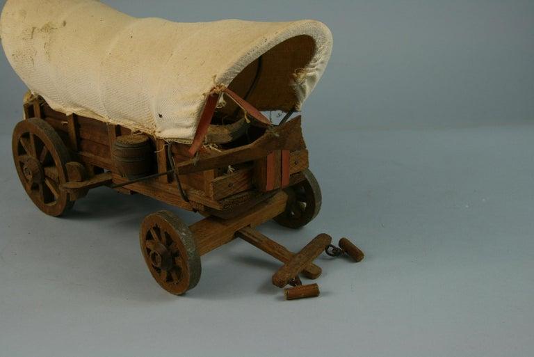 Folk Art Detailed Model of a Conestoga Wagon For Sale 2