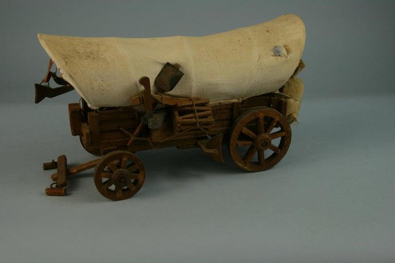 Folk Art Detailed Model of a Conestoga Wagon For Sale 3