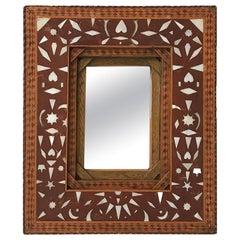 Folk Art Frame with Inlay Design