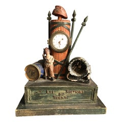 Folk Art French Revolution Clock, Early 19th Century
