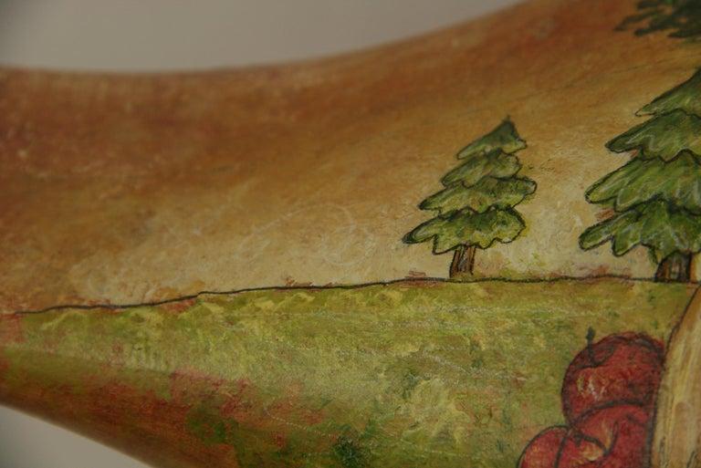 Folk Art Goose Hand Painted Sculpture For Sale 5