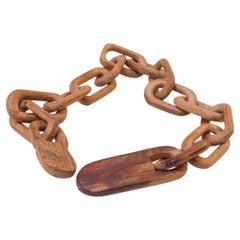 Folk Art Hand Carved Spruce Whimsy Chain