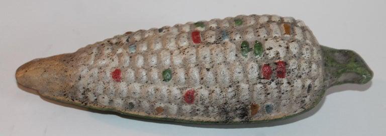Hand-Crafted Folk Art Handmade Terracotta Corn or Pair For Sale