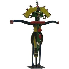 Folk Art Janus Totem Figure
