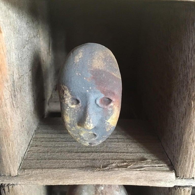 American Folk Art Mask Shadowbox For Sale