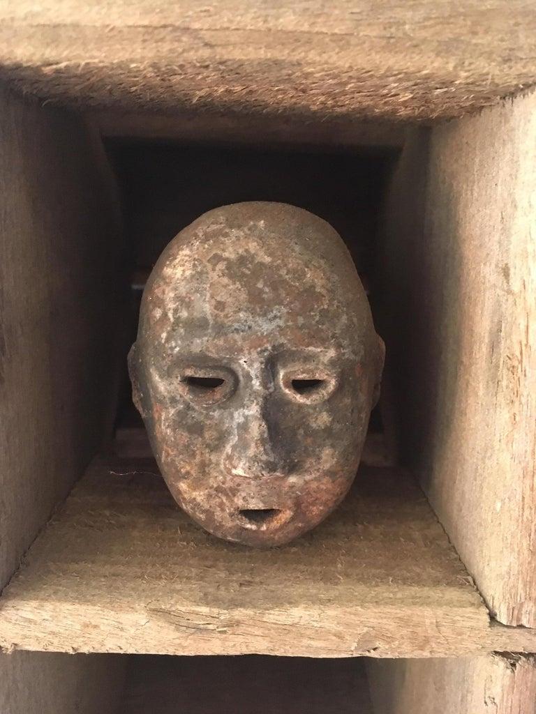 20th Century Folk Art Mask Shadowbox For Sale