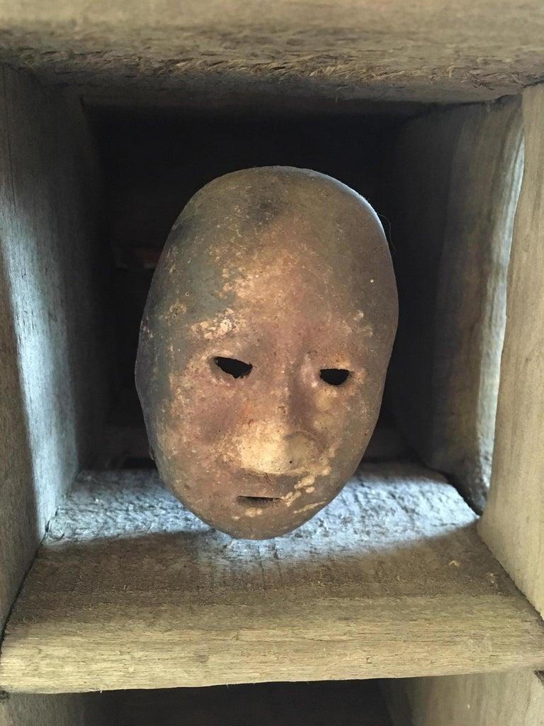 Folk Art Mask Shadowbox For Sale 1