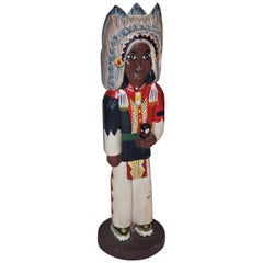 Folk Art Native American Indian Chief