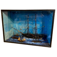 Folk Art Nautical Shadowbox, circa 1900
