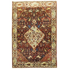 Folk Art Persian Malayer Animal Rug