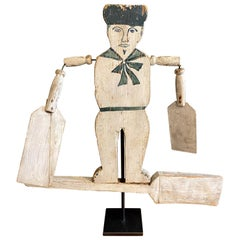 Folk Art Sailor Boy Whirligig, circa 1900