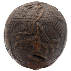 Folk Art Sailor Carved Coconut, circa 1800
