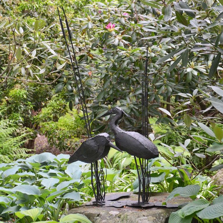 American Folk Art Sculpture of Two Shorebirds For Sale