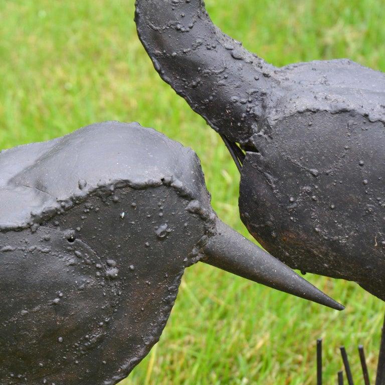 Folk Art Sculpture of Two Shorebirds For Sale 2