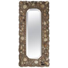 Folk Art Shell Mirror