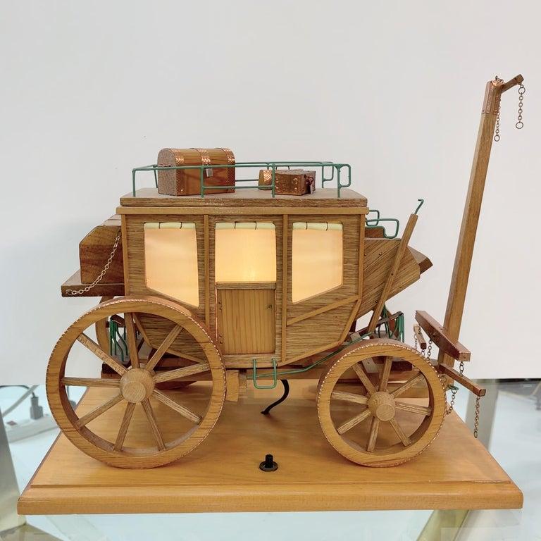 Folk Art Stage Coach Nightlight Lamp For Sale 4