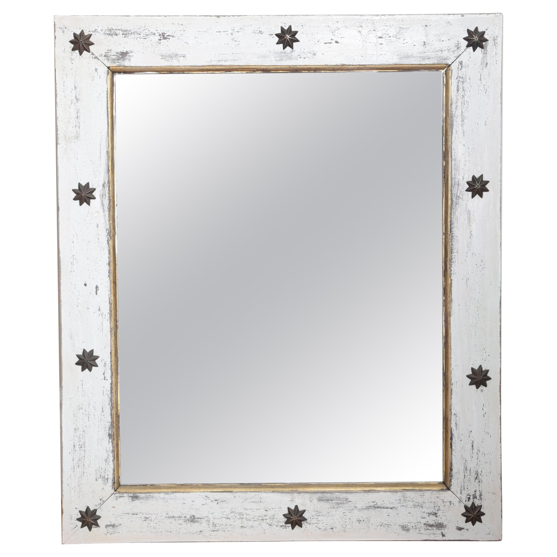 Folk Art Star Mirror