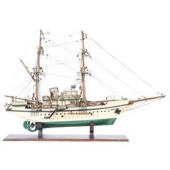 Folk Art Steam Yacht Model