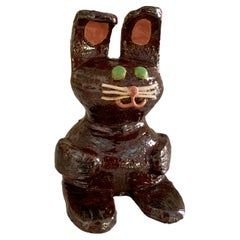 Folk Art Studio Pottery Bunny