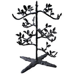 Folk Art Style Jewelry Display Tree