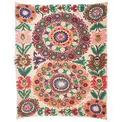 Folk Art Suzani from Uzbekistan, 1970s