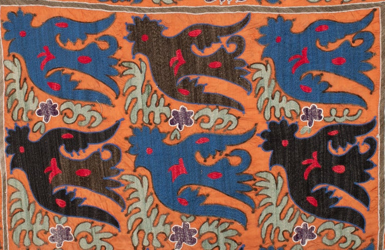 This is from a small group of Sunnis with bird depiction on and a good example top folk embroidery from Uzbekistan.