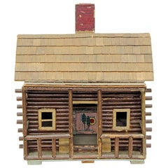 Folk Art Toy Log Cabin