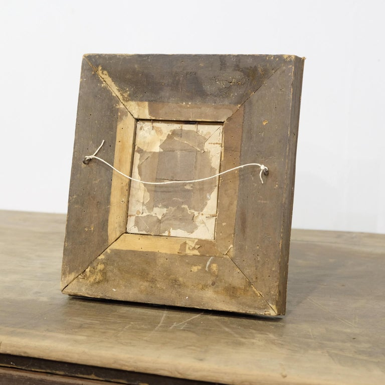 Folk Art Twig and Bark Applied Decorative Picture Frame, 19th Century For Sale 3