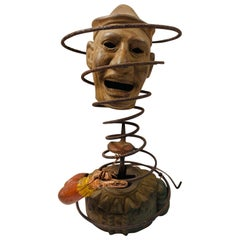 Folk Art Up-Cycled Clown Sculpture
