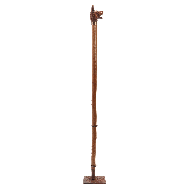 Folk Art Walking Stick, Germany, 1890