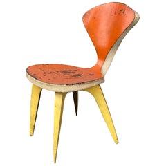 Folk Art Welded Steel Chair Handmade /Designed in the Manner of Norman Cherner