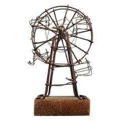 Folk Art Wirework Ferris Wheel, Early 20th Century, Naive Primitive, Fairground