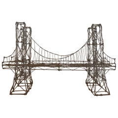 Folk Street Art Wire Bridge Sculpture