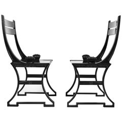 Folke Bensow, Pair of Scandinavian Modern Garden Chairs, Sweden, 1980s