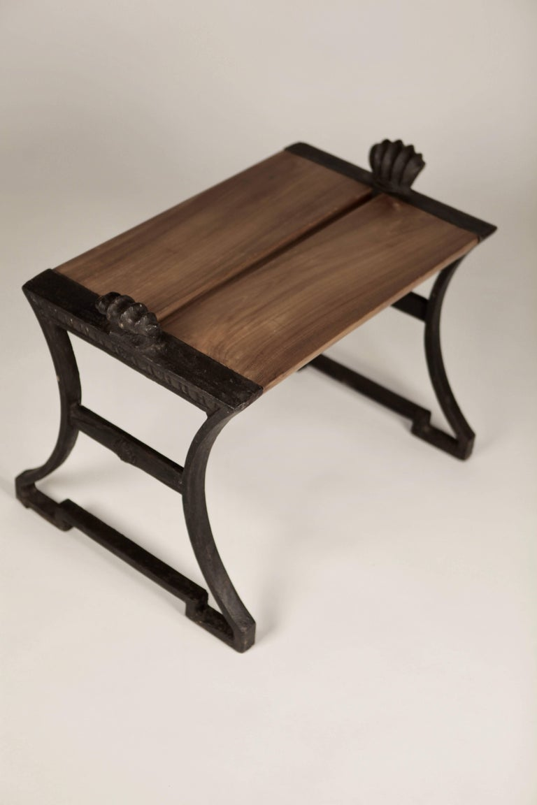 Folke Bensow, park bench, cast iron, replaced European oak seat.