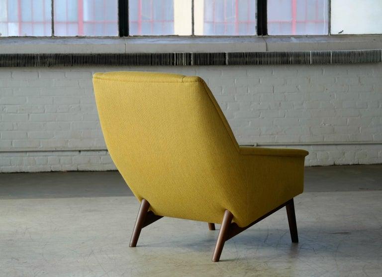 Folke Ohlsson 1950s Teak Lounge Chair for Fritz Hansen Danish Midcentury 4