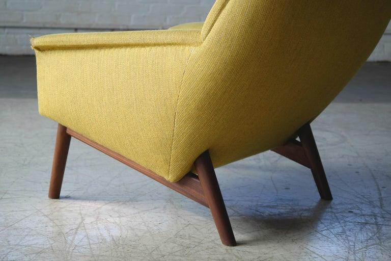 Folke Ohlsson 1950s Teak Lounge Chair for Fritz Hansen Danish Midcentury 1