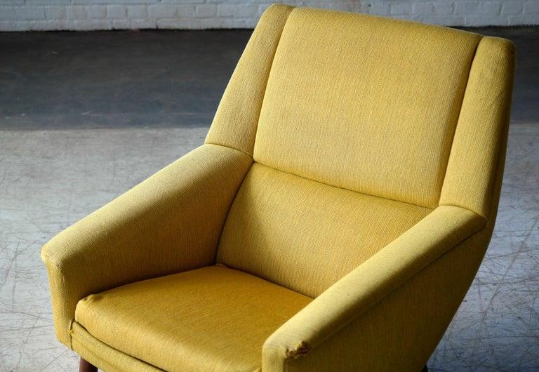 Folke Ohlsson 1950s Teak Lounge Chair for Fritz Hansen Danish Midcentury 2